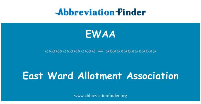 EWAA: East Ward Allotment Association