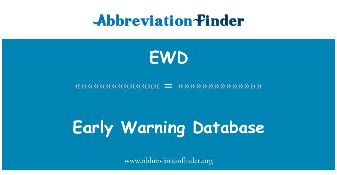 EWD: Base de datos de sistemas de alerta temprana