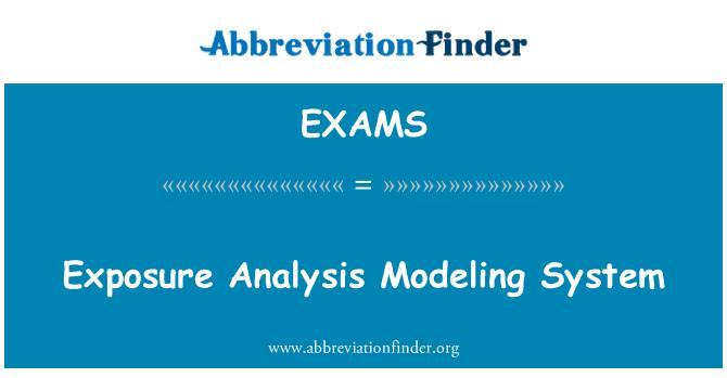 EXAMS: Sistema de modelado de análisis de exposición