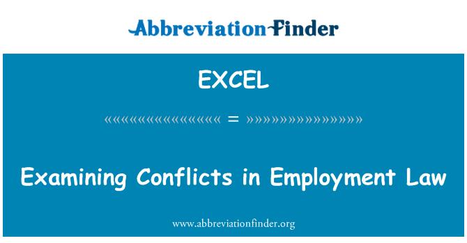 EXCEL: 就业法律审查冲突