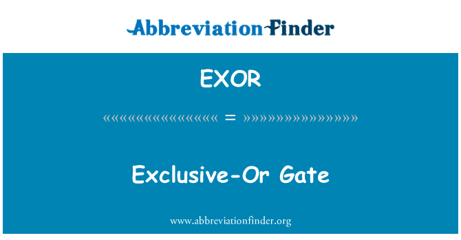 EXOR: 独家-或门
