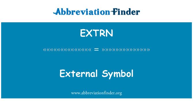 EXTRN: External Symbol