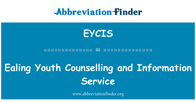 EYCIS: Ealing Youth Counselling and Information Service