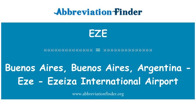 EZE: Buenos Aires, Buenos Aires, Argentina - Eze - Ezeiza International Airport
