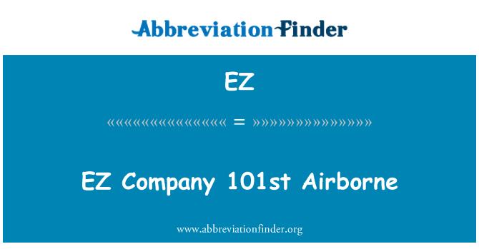 EZ: EZ Company 101st Airborne