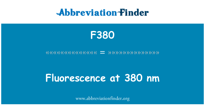 F380: Fluorescence at 380 nm