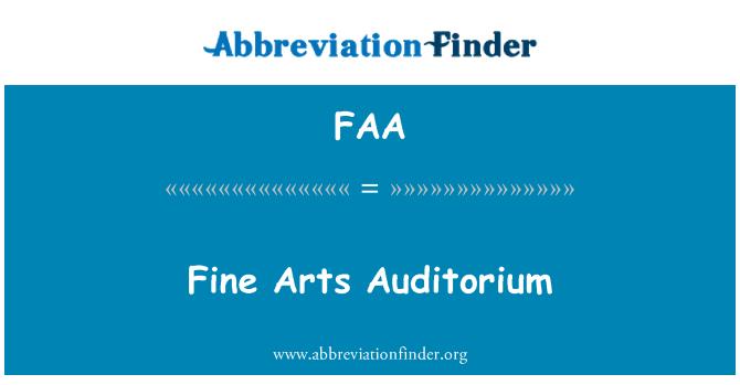 FAA: Fine Arts Auditorium