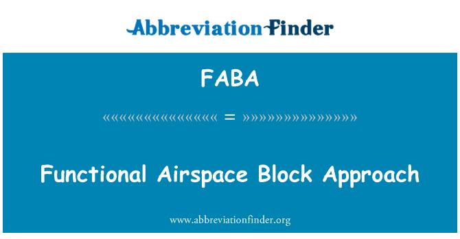 FABA: Enfoque de bloques funcionales de espacio aéreo