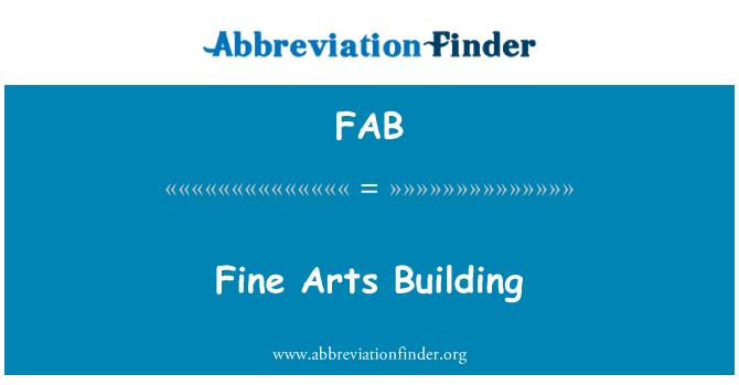 FAB: Fine Arts Building