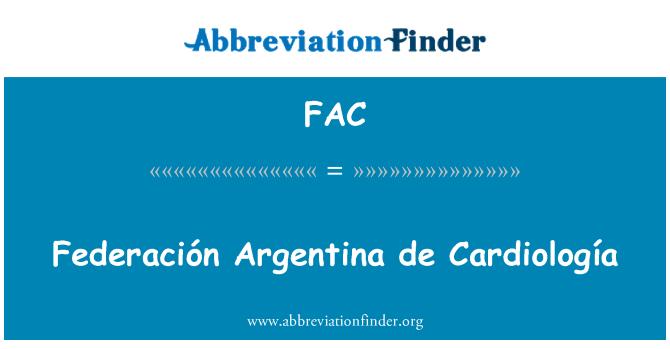 FAC: Federación Argentina de Cardiología
