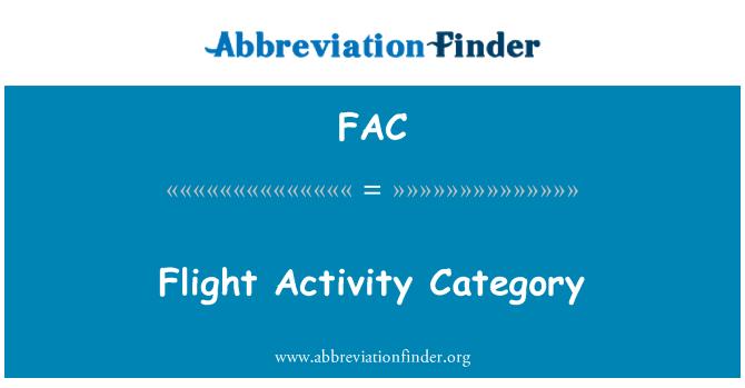 FAC: Flight Activity Category