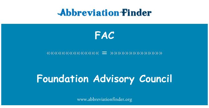 FAC: Foundation Advisory Council