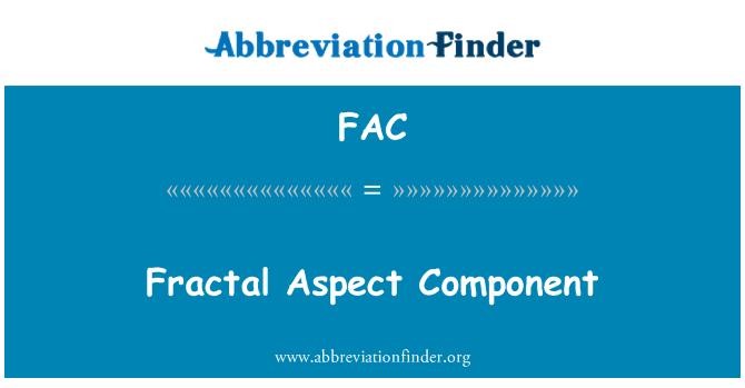 FAC: Fractal Aspect Component