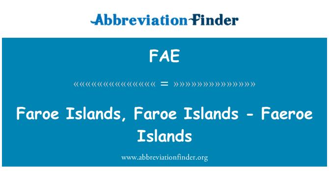 FAE: Faroe Islands, Faroe Islands - Faeroe Islands