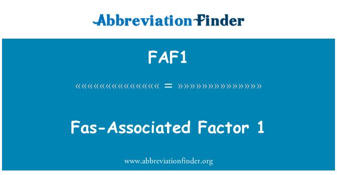 FAF1: FAS-povezan faktor 1