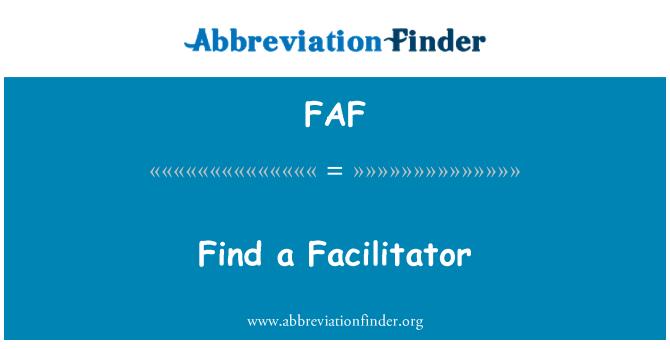 FAF: Find a Facilitator