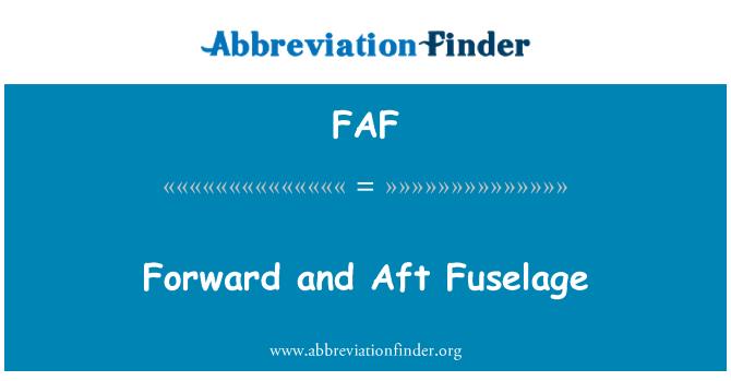 FAF: Forward and Aft Fuselage