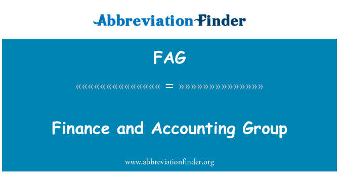 FAG: Finance and Accounting Group