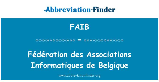 FAIB: Fédération des Associations Informatiques de Belgique