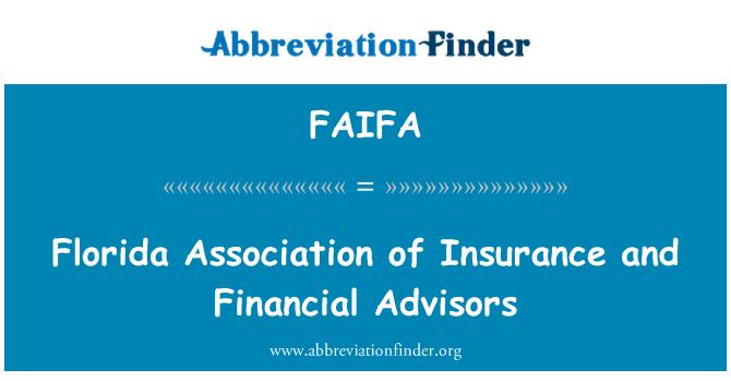FAIFA: Florida Association of Insurance and Financial Advisors