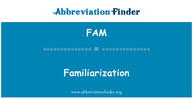 FAM: Familiarization