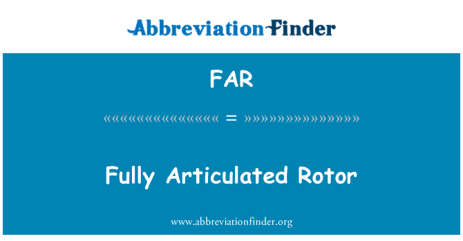 FAR: Fully Articulated Rotor