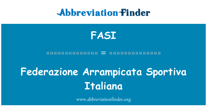 FASI: Federazione Arrampicata Sportiva Italiana