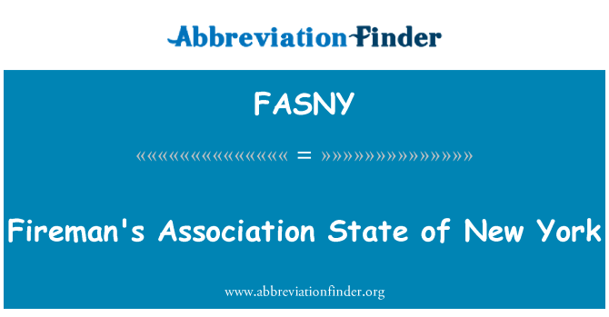 FASNY: Fireman's Association State of New York