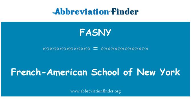 FASNY: Francés-American School de Nueva York