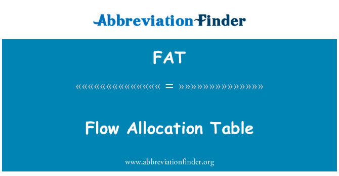 FAT: Flow Allocation Table