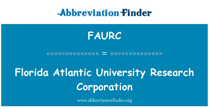 FAURC: Florida Atlantic University Research Corporation