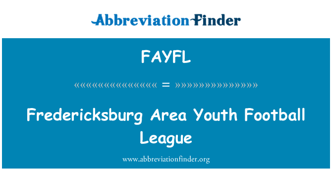 FAYFL: Fredericksburg Area Youth Football League