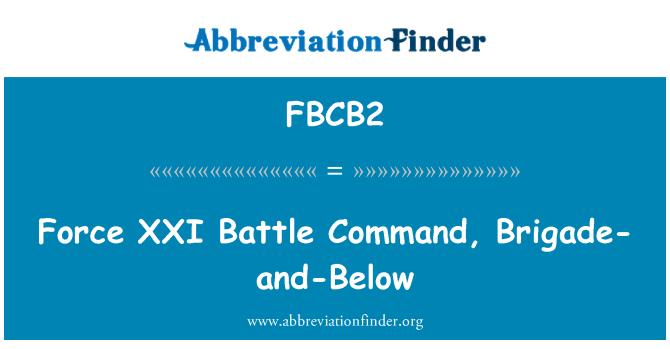 FBCB2: Tugay-ve-altında XXI savaş komut zorlama