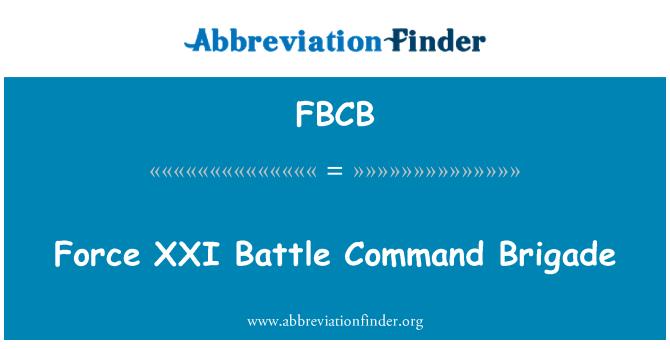 FBCB: Force XXI Battle Command Brigade