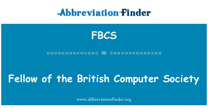 FBCS: Fellow of the British Computer Society