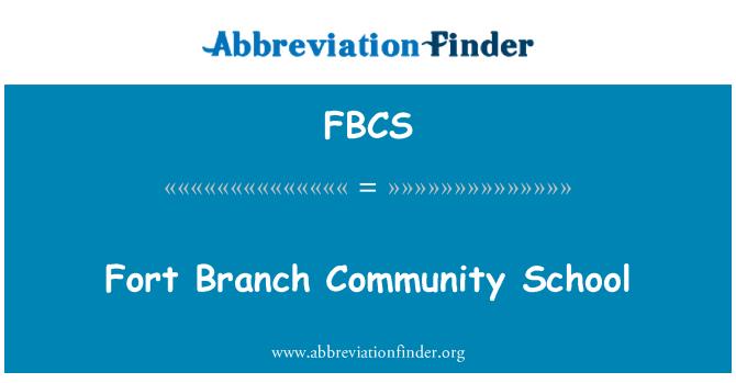 FBCS: Fort Branch Community School