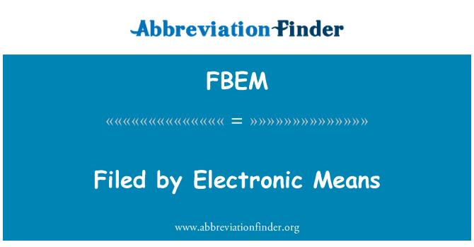FBEM: Archivada por medios electrónicos