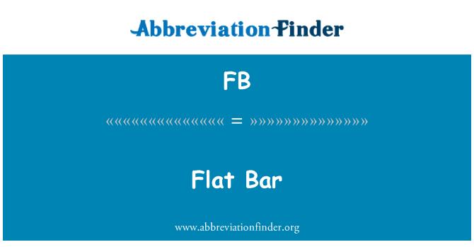 FB: Flat Bar