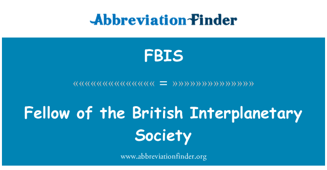 FBIS: Adam İngiliz Gezegenlerarası Derneği