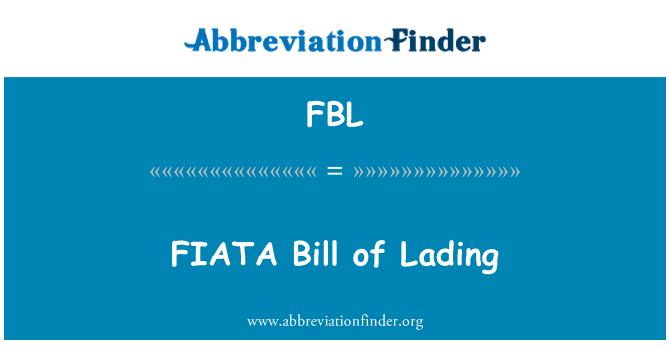 FBL: FIATA Bill of Lading
