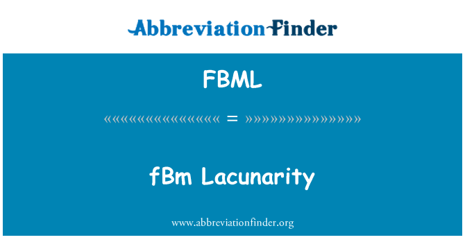 FBML: fBm Lacunarity