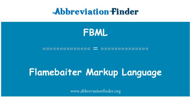 FBML: Flamebaiter biçimlendirme dili