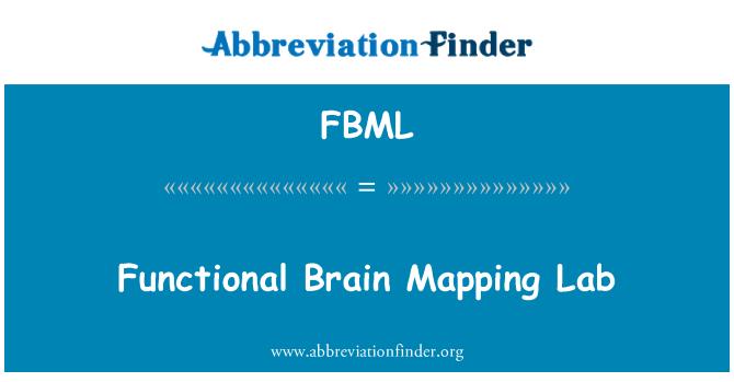 FBML: Fonksiyonel beyin haritalama laboratuarı