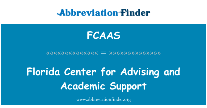FCAAS: Florida Center for Advising and Academic Support
