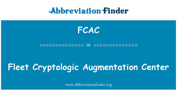 FCAC: Flota Centro Criptológico de aumento