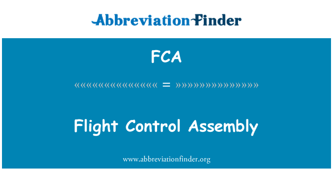 FCA: Flight Control Assembly