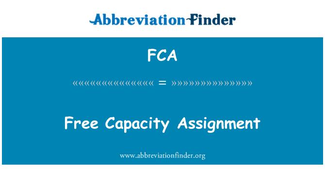 FCA: Free Capacity Assignment