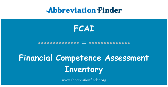FCAI: Financial Competence Assessment Inventory