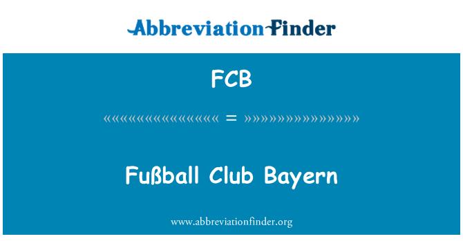 FCB: Fußball Club Bayern