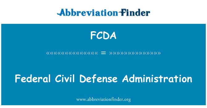 FCDA: وفاقی سول دفاعی انتظامیہ